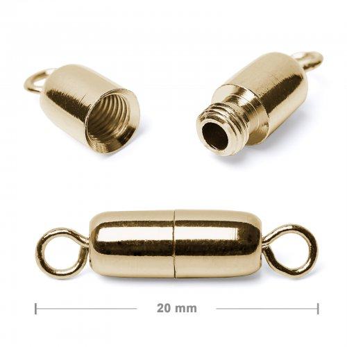 Šroubovací zapínání 20mm zlaté  5 ks v balení