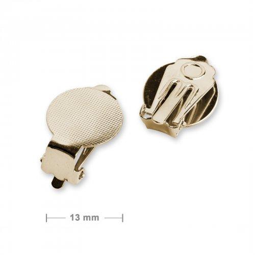 Klipsy ploché 13mm zlaté - 5 párů v balení