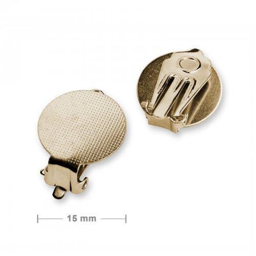 Klipsy ploché 15mm zlaté - 5 párů v balení