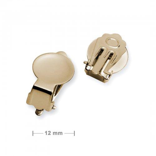 Klipsy vypouklé 12 mm zlaté - 5 párů v balení