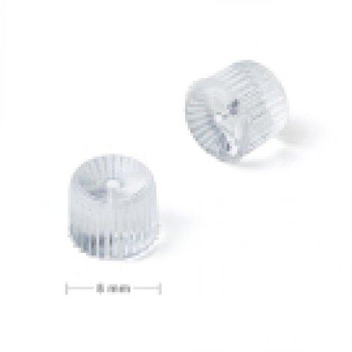 Náušnicová zarážka silikonový soudek  10 ks v balení