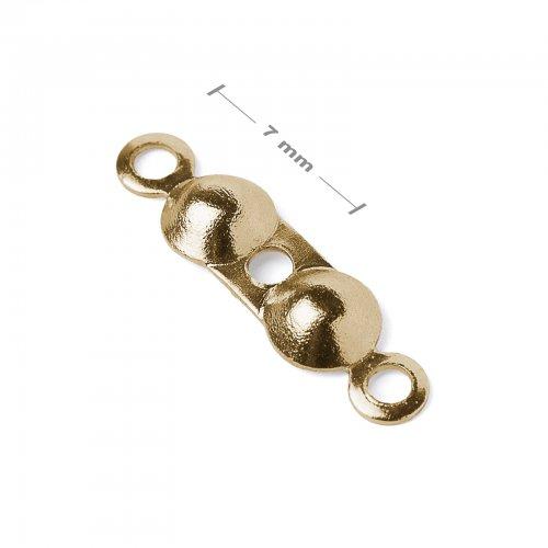 Bižuterní kalota 7mm zlatá  10 ks v balení