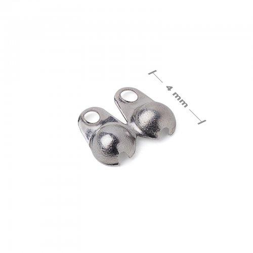 Bižuterní kalota 4mm platinová  10 ks v balení