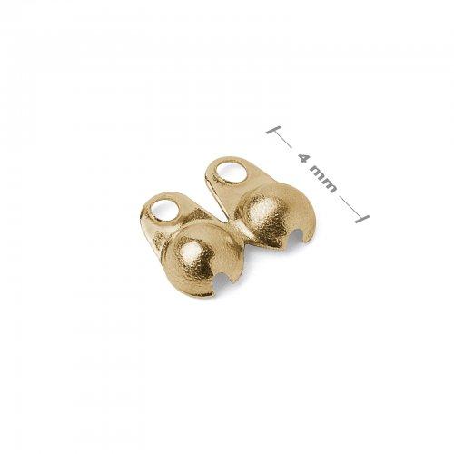 Bižuterní kalota 4mm zlatá  10 ks v balení