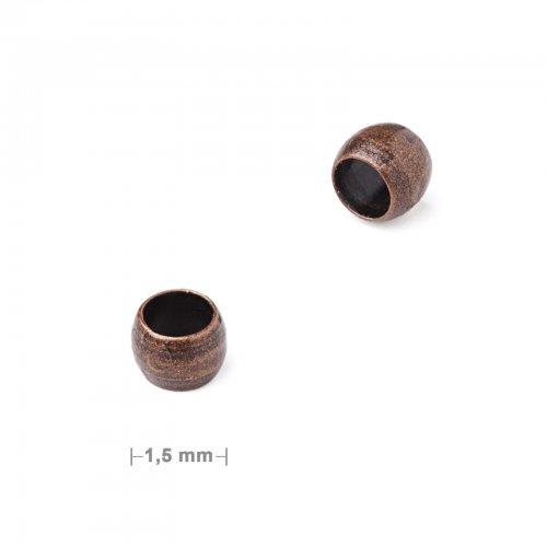 Zamačkávací rokajl 1,5mm staroměď  50 ks v balení