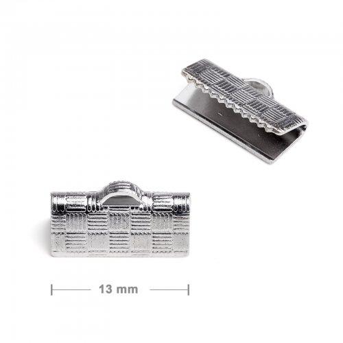 Koncovka na stuhu 13mm platinová  10 ks v balení