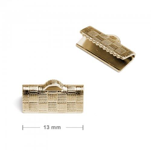 Koncovka na stuhu 13mm zlatá  10 ks v balení