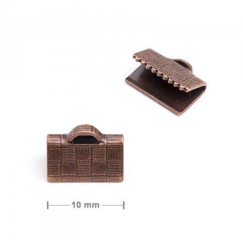 Koncovka na stuhu 10mm staroměď  10 ks v balení