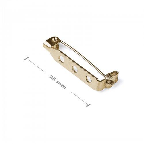 Brožový můstek 25mm zlatý  5 ks v balení