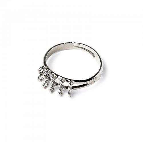 Základ na prsten s očky stříbrný  2 ks v balení