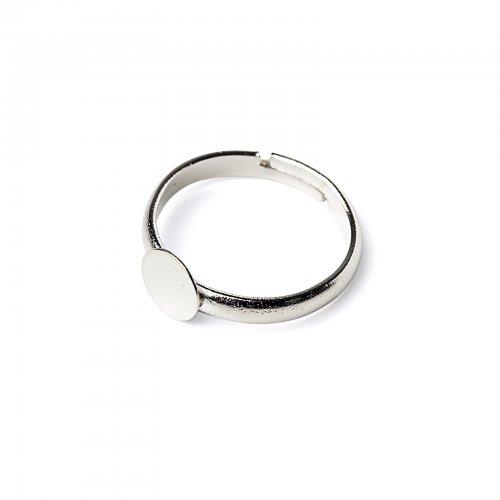 Základ na prsten lepící stříbrný  2 ks v balení
