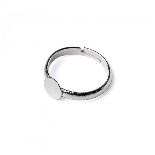 Základ na prsten lepící platinový  2 ks v balení