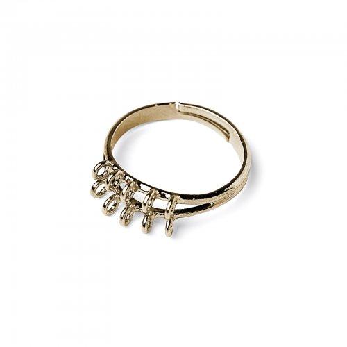 Základ na prsten s očky zlatý  2 ks v balení