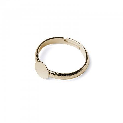 Základ na prsten lepící zlatý  2 ks v balení