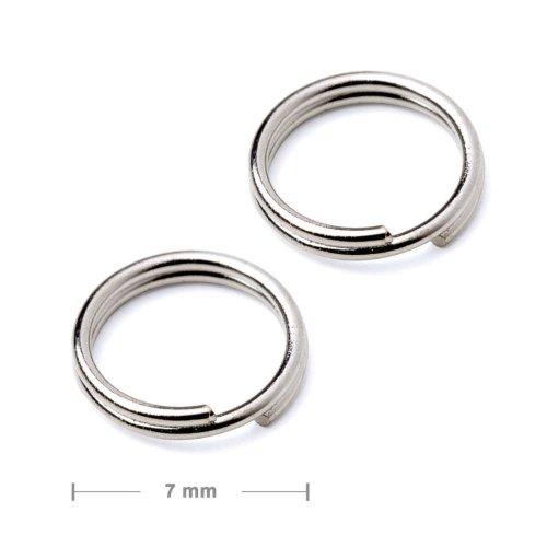 Dvojitý protikroužek 7mm stříbrný  10 ks v balení
