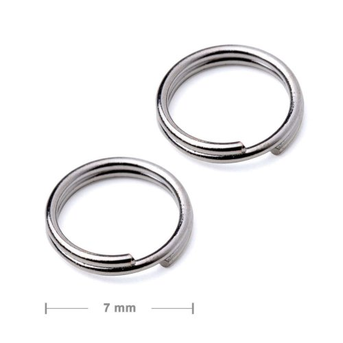 Dvojitý protikroužek 7mm platinový  10 ks v balení