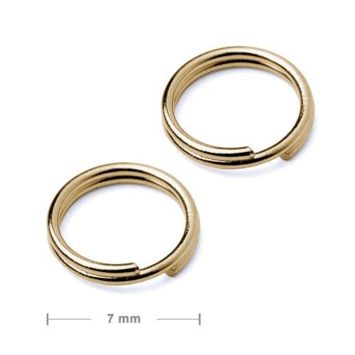 Dvojitý protikroužek 7mm zlatý  10 ks v balení