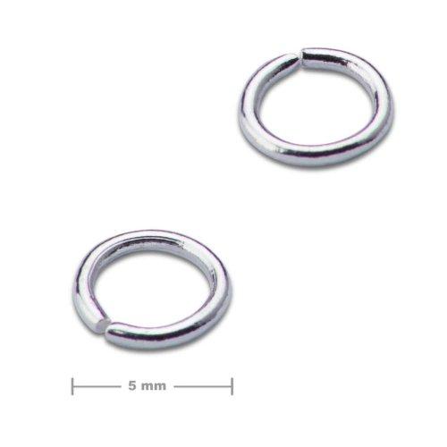Spojovací kroužek 5mm stříbrný  10 ks v balení