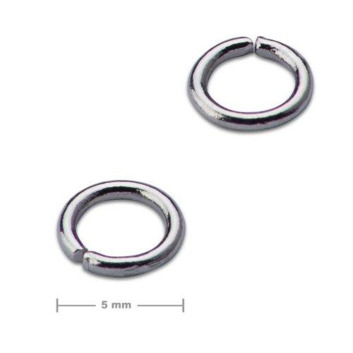 Spojovací kroužek 5mm platinový  10 ks v balení