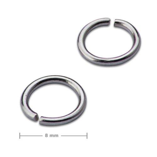 Spojovací kroužek 8mm platinový  10 ks v balení