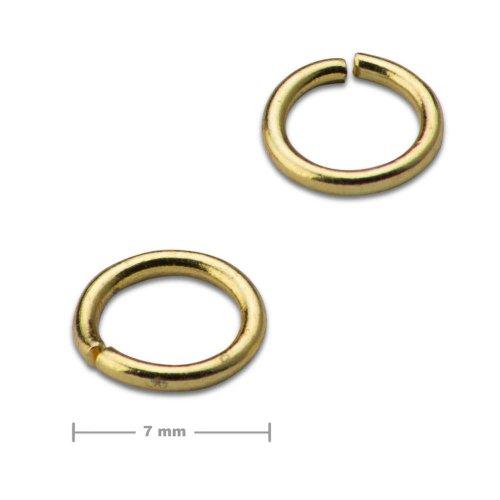 Spojovací kroužek 7mm zlatý  10 ks v balení