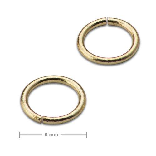 Spojovací kroužek 8mm zlatý  10 ks v balení