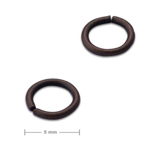 Spojovací kroužek 5mm staroměď  10 ks v balení