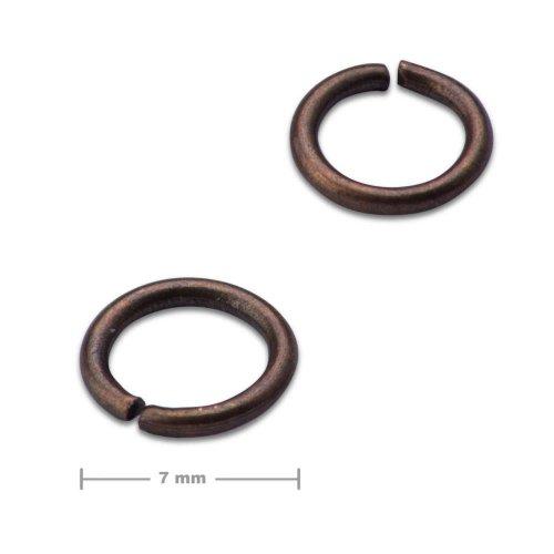 Spojovací kroužek 7mm staroměď  10 ks v balení