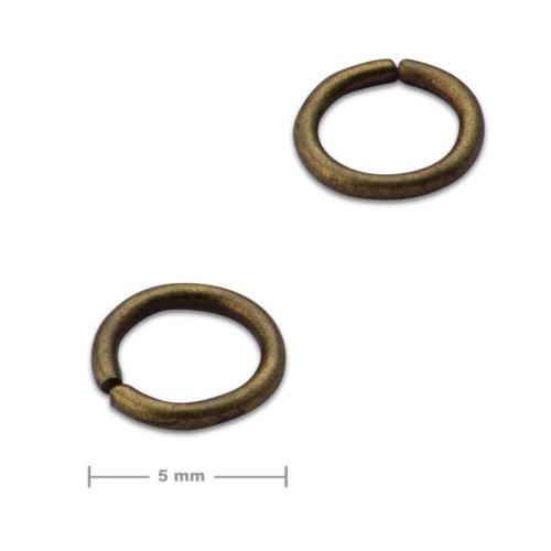 Spojovací kroužek 5mm staromosaz  10 ks v balení