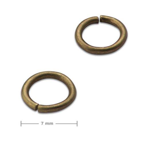 Spojovací kroužek 7mm staromosaz  10 ks v balení