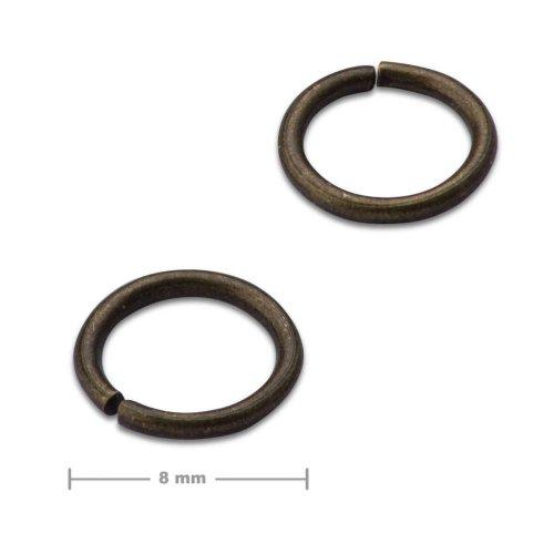 Spojovací kroužek 8mm staromosaz  10 ks v balení