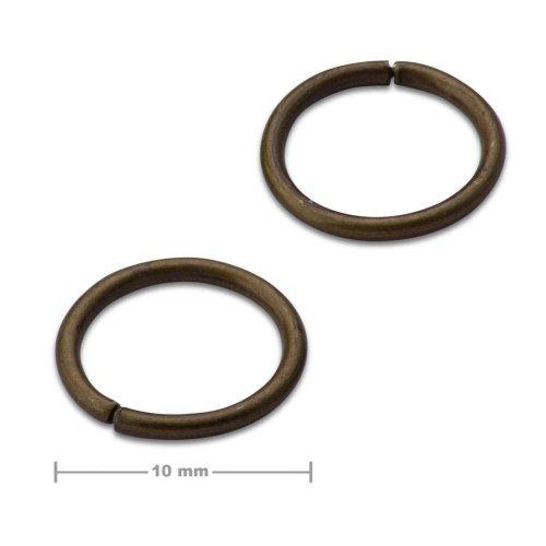 Spojovací kroužek 10mm staromosaz  10 ks v balení