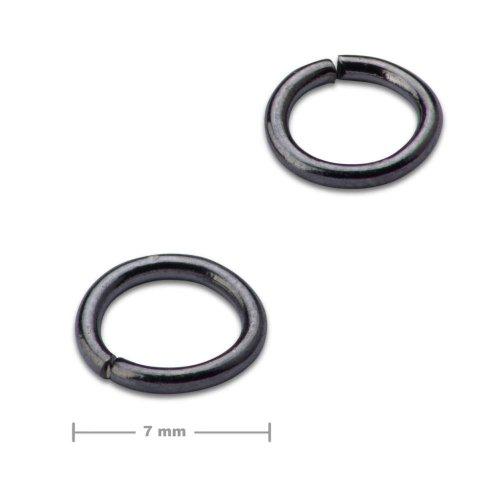 Spojovací kroužek 7mm antracit  10 ks v balení