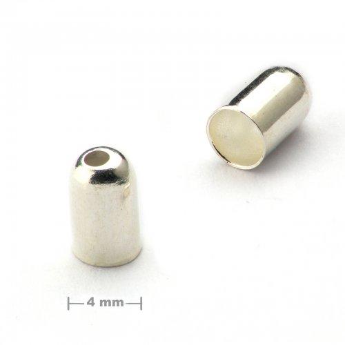 Kaplík hladký 4mm stříbrný  10 ks v balení