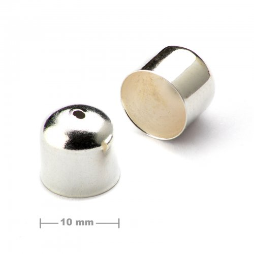 Kaplík hladký 10mm stříbrný  10 ks v balení