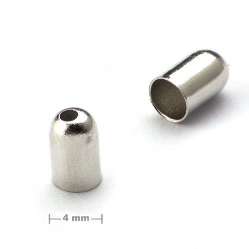 Kaplík hladký 4mm platinový  10 ks v balení