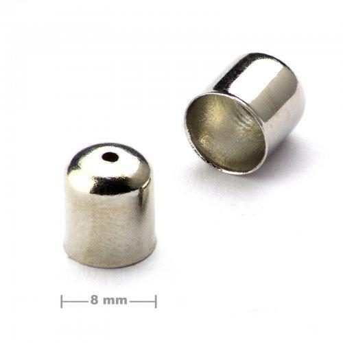 Kaplík hladký 8mm platinový  10 ks v balení