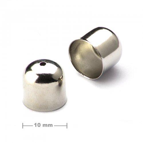 Kaplík hladký 10mm platinový  10 ks v balení