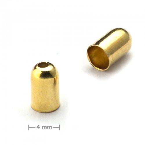 Kaplík hladký 4mm zlatý  10 ks v balení