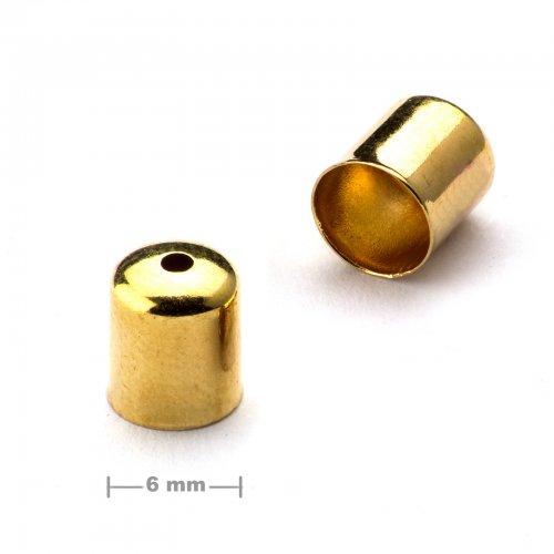 Kaplík hladký 6mm zlatý  10 ks v balení