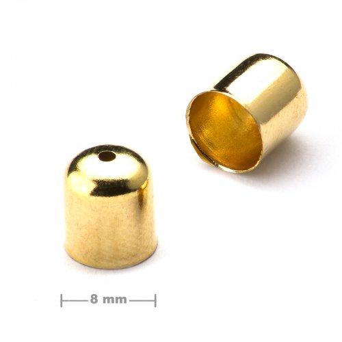 Kaplík hladký 8mm zlatý  10 ks v balení