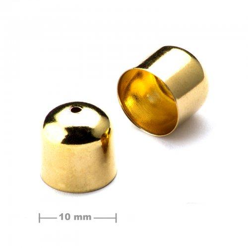 Kaplík hladký 10mm zlatý  10 ks v balení