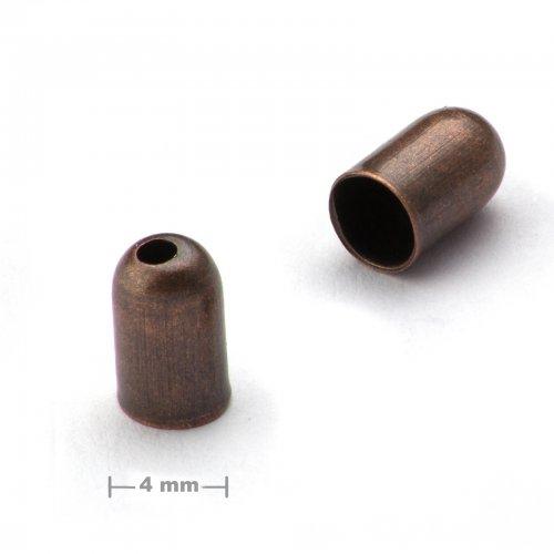Kaplík hladký 4mm staroměď  10 ks v balení
