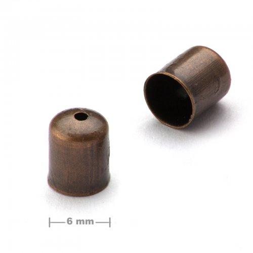 Kaplík hladký 6mm staroměď  10 ks v balení