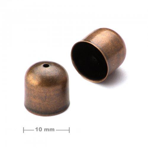 Kaplík hladký 10mm staroměď  10 ks v balení