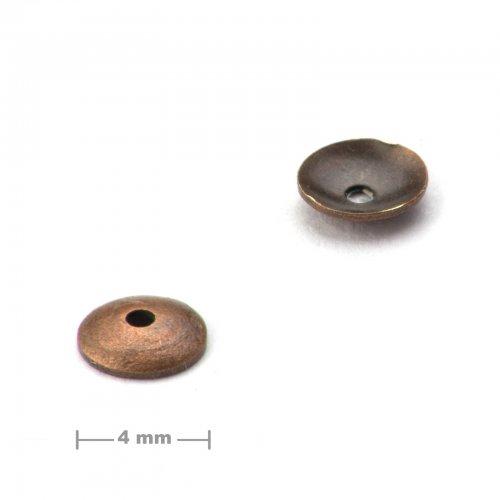 Kaplík ketlovací 4mm staroměď  10 ks v balení