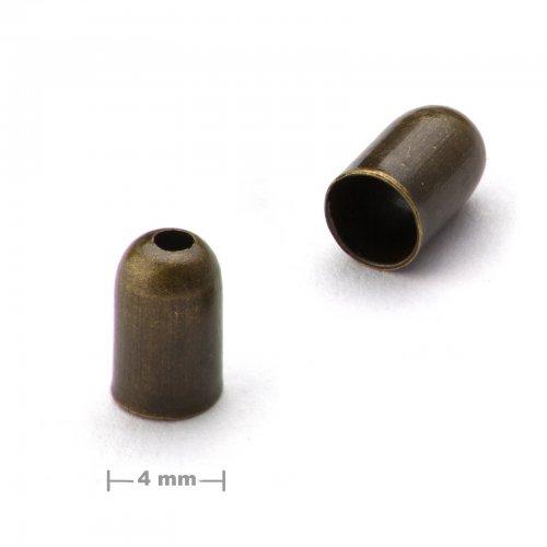 Kaplík hladký 4mm staromosaz  10 ks v balení