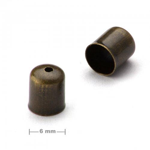 Kaplík hladký 6mm staromosaz  10 ks v balení