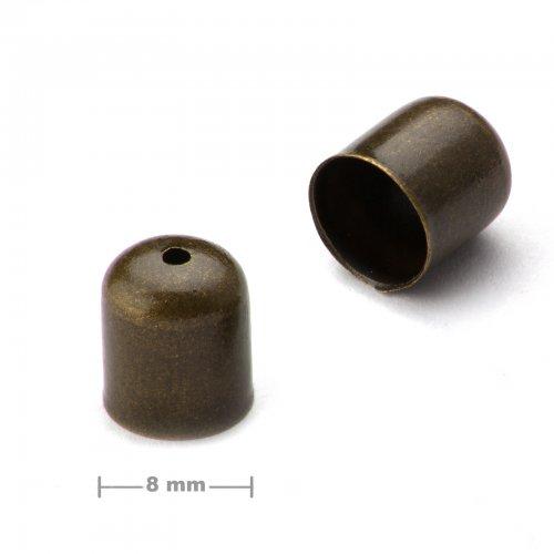 Kaplík hladký 8mm staromosaz  10 ks v balení