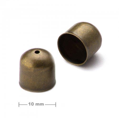 Kaplík hladký 10mm staromosaz  10 ks v balení
